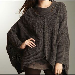 All Saints chunky oversized sweater/cape